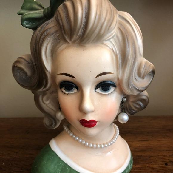Other Napcoware Vintage Lady Head Vase Poshmark
